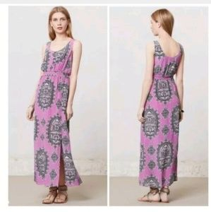 Anthropologie Medium Maeve Anna's Silk Maxi Dress